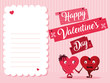 cute hearts couple love card - 242743177