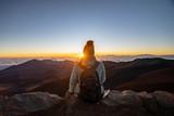 Woman Watching Sunrise - 242750528