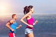 Leinwanddruck Bild - Fitness, sport, friendship and lifestyle concept - smiling