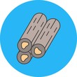 vector wood icon - 242772587