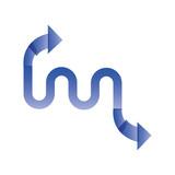 arrow statistics infographic icon - 242773726