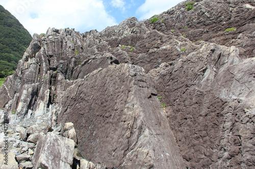 室戸岬で見られるタービダイト層(高知県)