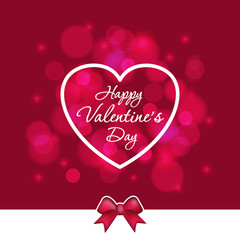 Background with Valentine's day lettering and heart.