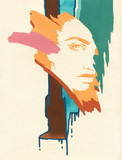 beautiful woman. fashion illustration. watercolor painting - 242796907