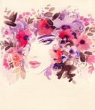 beautiful woman. fashion illustration. watercolor painting - 242797114