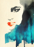 beautiful woman. fashion illustration. watercolor painting - 242797338