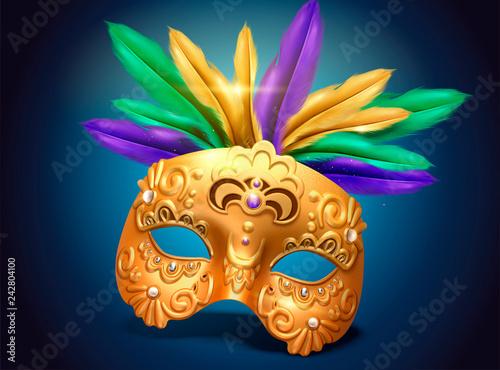 Mardi gras exquisite golden mask