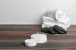 Quadro Beautiful spa composition on wooden table