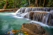 Arawan waterfall in kanchanaburi's forest of Thailand. - 242835146