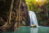 Arawan waterfall in kanchanaburi's forest of Thailand.