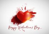 Grunge Valentine's Day background - 242847123