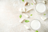 Vegan coconut milk - 242862954