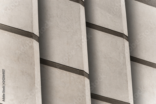 Detail of a modern architecture - Concrete grey wall