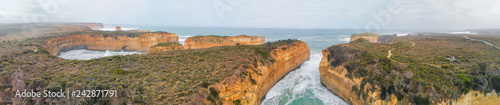 Aerial view of beautiful coastline