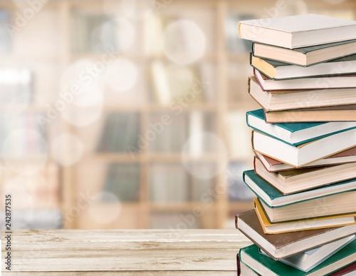 Leinwandbild Motiv Books collection isolated on white background.