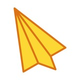 vector airplane icon - 242877793