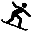 nwss9 NewWinterSportSign nwss - gz277 GrafikZeichnung - siwb524 SignIsolatedWhiteBackground siwb - german - Snowboard fahren - english - snowboarder - simple template - square xxl g7035