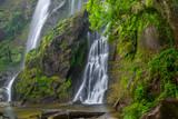Khlong Lan Waterfall, the beautiful waterfall in deep forest at Khlong Lan National Park ,Kamphaeng Phet, Thailand,