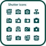 shutter icon set - 242885525