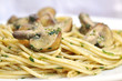 Parsley Pesto Pasta with mushrooms - 242886921
