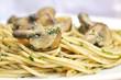 Parsley Pesto Pasta with mushrooms - 242886921