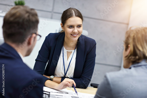 Poster Business interview in modern office
