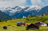 Summer Alpine country view - 242892186