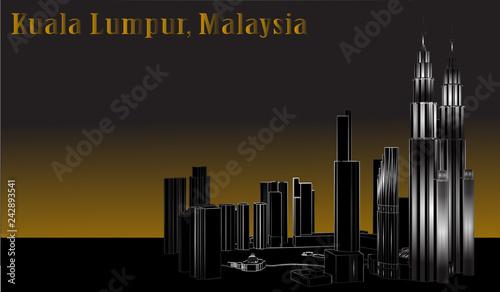Vector City of Kuala Lumpur, Malaysia - 242893541