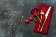 Leinwandbild Motiv Valentine's Day table setting