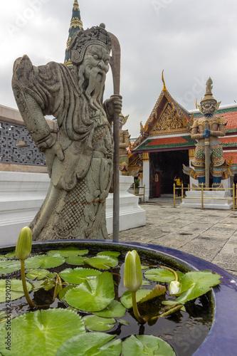 The grand palace, at the heart of Bangkok, its construction began 1782, at the order of King Phutthayotfa Chulalok. Thailand.