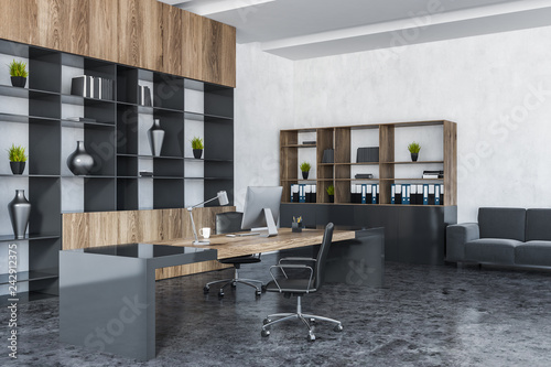 White manager office with sofa - 242912375