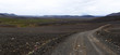 Panoramic view at wild desert landscape from Austurleid road Eastern Iceland