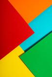 Vibrant colors palette paper design. Geometric shapes. - 242937190