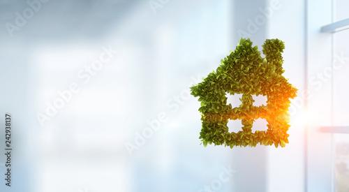 Foto Murales Eco construction concept. Mixed media