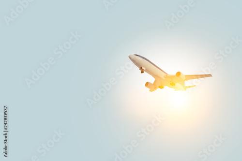 Airplane mini model . Mixed media