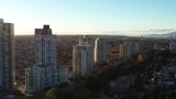 Cityscape sunny day. Aerial flight. Drone. 4K. - 242940971
