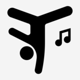 Glyph Hip hop pixel perfect vector icon