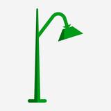 Flat single arm street light pixel perfect vector icon - 242951169