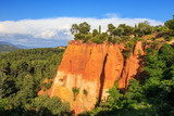 Viewing platform in the French city of Roussillon. Provence. France.