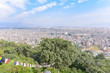 Aerial View of Buildings in Kathmandu Valley on a Sunny Day in Nepal - 242955778