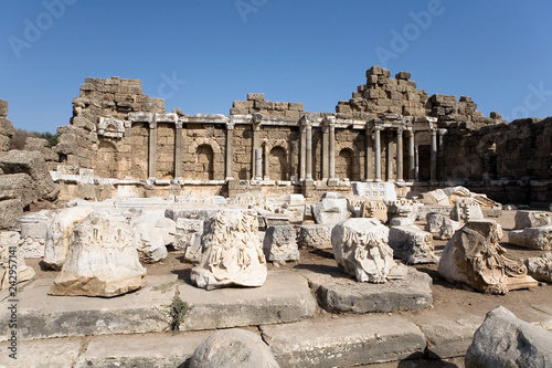 The ruins of the ancient city of Side.