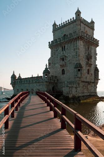 Leinwanddruck Bild Belem Tower, Lisbon, Portugal. Sunset