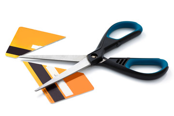 Scissors and cut credit card © blackday