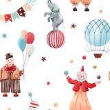 Watercolor circus pattern - 242975122