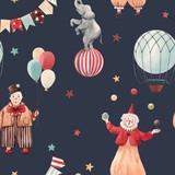Watercolor circus pattern - 242975135