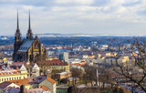 the famous church of st Peter in Brno - 242977914