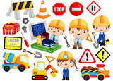 architect and construction image set with many items - 242981105