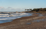 View to the beach of Baltic sea. - 242983968
