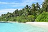 beach in Maledives by Embudu village
