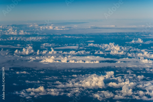 Canary islands flight scene plane window travel - 242985949